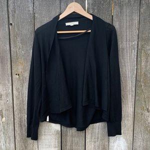 Ann Taylor Loft Wool Blend Black Cardigan Size L